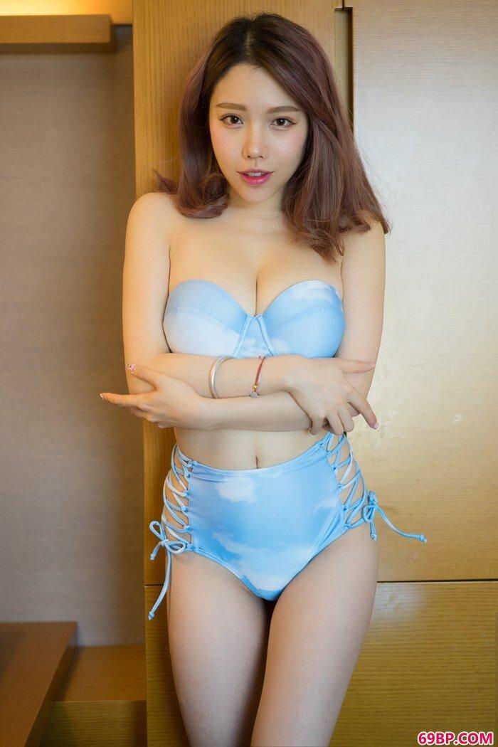 绝美佳人妮小妖蕾丝泳装秀甜美豪乳_欧美free嫩10